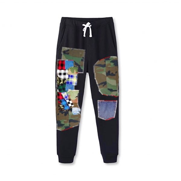 Black Patched Joggers